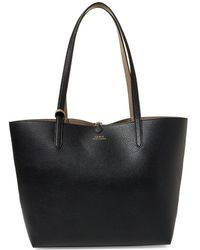 Lauren by Ralph Lauren - Medium Reversible Faux Leather Tote - Lyst