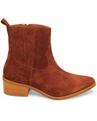 Steven by Steve Madden - Walden Point-toe Suede Boots - Lyst
