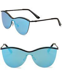 Steve Madden - 55mm Shield Butterfly Sunglasses - Lyst