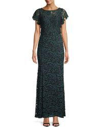 Decode 1.8 - Belted Lace Column Gown - Lyst