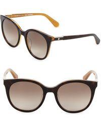 Kate Spade - 51mm Round Sunglasses - Lyst