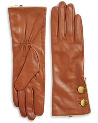 Kate Spade - Double-button Leather Gloves - Lyst