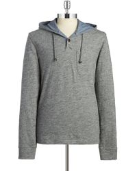 Lucky Brand - Hooded Henley Pullover - Lyst