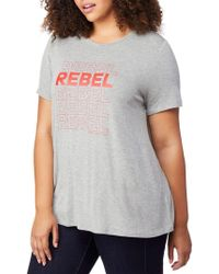 REBEL WILSON X ANGELS - Plus Fitted Graphic Tee - Lyst