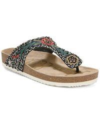e7c2185a52f4 Sam Edelman Olivie 4 Embellished Satin Footbed Sandals - Lyst