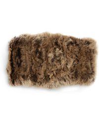 Surell - Rabbit Fur Convertible Headband - Lyst