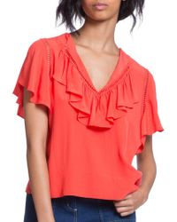 Plenty by Tracy Reese - Solid Open-knit Top - Lyst
