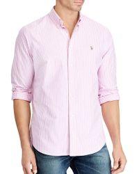 Polo Ralph Lauren - Classic-fit Checkered Long-sleeve Cotton Dress Shirt - Lyst