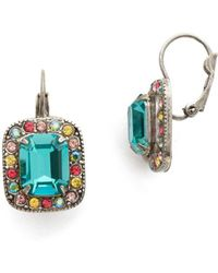 Sorrelli - Vivid Horizons Opulent Crystal Octagon Drop Earrings - Lyst