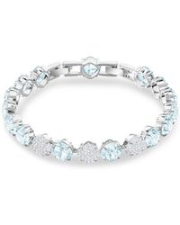 Swarovski - Rhodium-plated And Crystal Mix Bracelet - Lyst