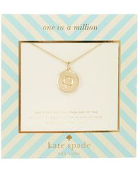 Kate Spade - One In A Million Letter Pendant Necklace - Lyst