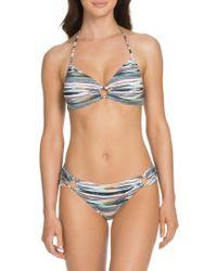 SOLUNA - Striped Loop-front Bikini Top - Lyst