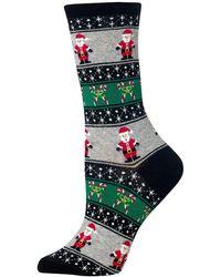 Hot Sox - Santa Fair Isle Crew Socks - Lyst