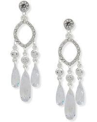 Anne Klein - Crystal Chandelier Earrings - Lyst