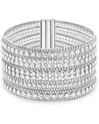 Swarovski - Stainless Steel And Crystal Fit Bracelet - Lyst