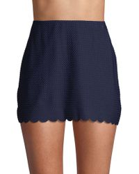 1b7940b7d2 Ted Baker. Kate Spade - Textured Scallop Pull On Skirt Cover Up - Lyst