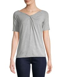 Lord & Taylor - Short-sleeve Iconic Fit Twist-neck Tee - Lyst