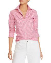 Lauren by Ralph Lauren - Non-iron Stretch-cotton Button-down Shirt - Lyst