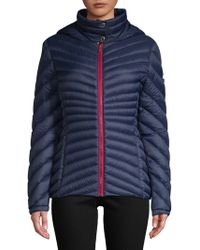 Tommy Hilfiger - Chevron Quilted Packable Coat - Lyst
