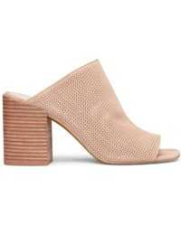 Kenneth Cole - Karolina 3 Leather Block Heel Mules - Lyst