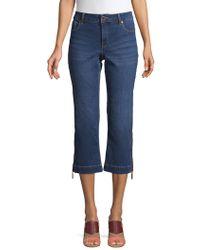 Ivanka Trump - Wide-leg Cropped Jeans - Lyst