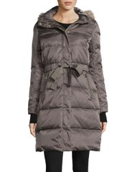 Ivanka Trump - Faux Fur-trimmed Cinched Waist Down Anorak Coat - Lyst