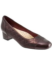 Trotters - Danelle Quilted Leather Court Shoes - Lyst