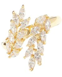 Vince Camuto - Goldtone & Crystal Marquise Bypass Ring - Lyst