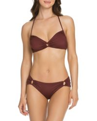 SOLUNA - Loop-front Bikini Top - Lyst