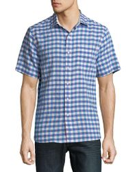 Tommy Bahama - Gingham Del Toro Stretch Linen Camp Shirt - Lyst