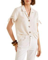 Mango - Rustic Knots Button-down Shirt - Lyst