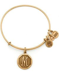 ALEX AND ANI - Initial M Charm Bangle - Lyst