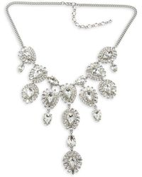 Belle By Badgley Mischka - Crystal Statement Necklace - Lyst
