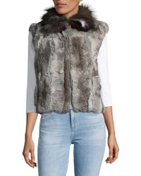 Adrienne Landau - Rabbit And Fox Fur Vest - Lyst