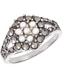 Lord + Taylor - Faux Pearl And Rhinestone Ring - Lyst
