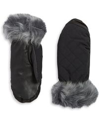 UGG - Shearling-trimmed Touchscreen Mittens - Lyst