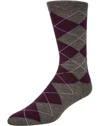 Cole Haan - Argyle Crew Socks - Lyst