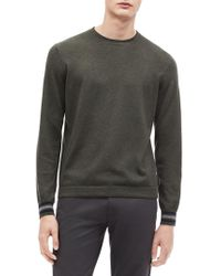 Calvin Klein - Tipped Long-sleeve Sweater - Lyst