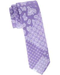 Tommy Hilfiger - Slim Patchwork Cotton Tie - Lyst