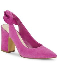 Lord & Taylor - Laci Suede Slingback Pumps - Lyst