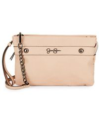Jessica Simpson - Logo Faux Leather Crossbody Bag - Lyst