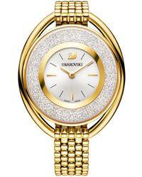 Swarovski - Crystalline Oval Goldtone Stainless Steel Bracelet Watch - Lyst