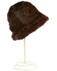 Surell - Mink Fur Cloche Hat - Lyst