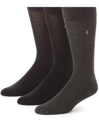 Polo Ralph Lauren - Three-pack Bamboo Rayon Socks - Lyst