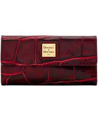 Dooney & Bourke - Textured Leather Continental Clutch - Lyst
