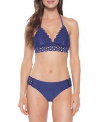 Becca - Siren Shimmer Halter Bikini Top - Lyst