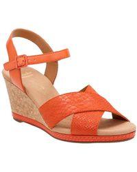 Clarks - Helio Latitude Wedge Sandals - Lyst