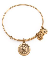 ALEX AND ANI | Initial D Charm Bangle | Lyst