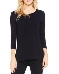 Vince Camuto - Ruched Sleeve High/low Top - Lyst