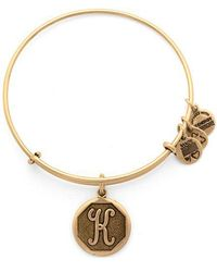 ALEX AND ANI - Initial A Charm Bangle - Lyst